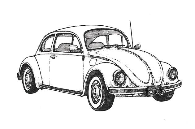 volkswagen beetle r a volkswagen beetle coloring pages