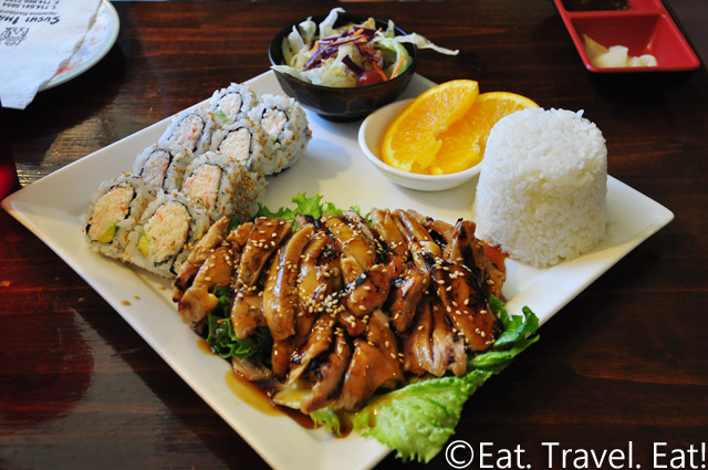 Sushi Imari- Costa Mesa, CA: 2 Item Lunch Combination: California Roll and Chicken Teriyaki