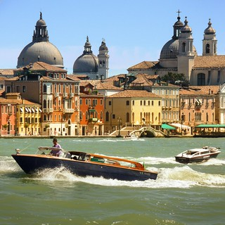 The busy waterways of colorful Venice