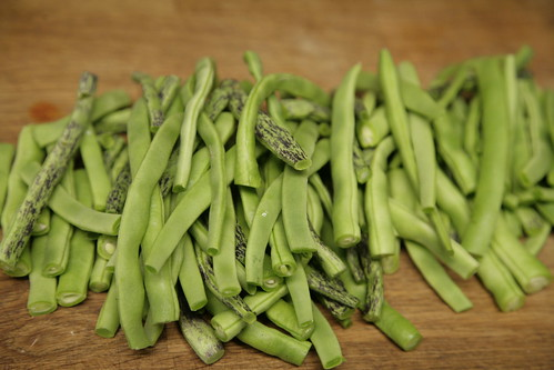 Green beans from the garden.