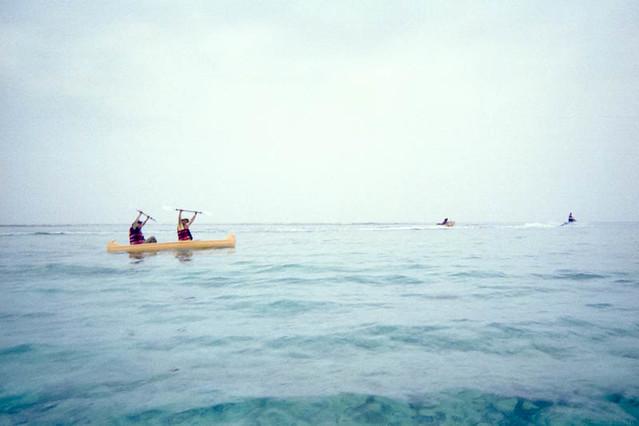 ブセナリゾートでカヌーを楽しむ / Canoeing at Busena-Resort