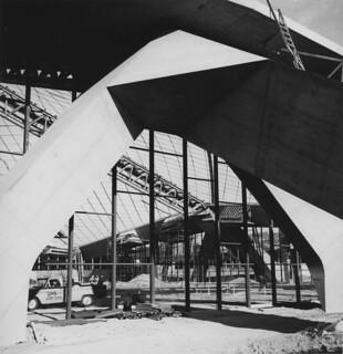 World's Fair Coliseum under construction, 1961