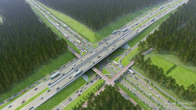Велопешеходные мосты на Московской-Объездной