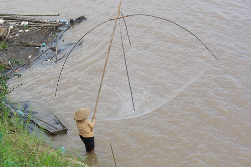 Net fishing on the mekong