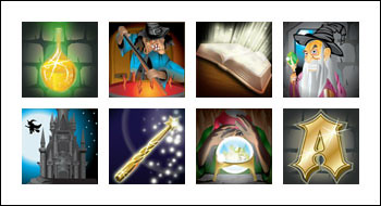free Spellcast slot game symbols