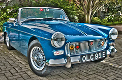 mg mgb(0.0), automobile(1.0), vehicle(1.0), performance car(1.0), automotive design(1.0), mg midget(1.0), antique car(1.0), classic car(1.0), land vehicle(1.0), sports car(1.0),
