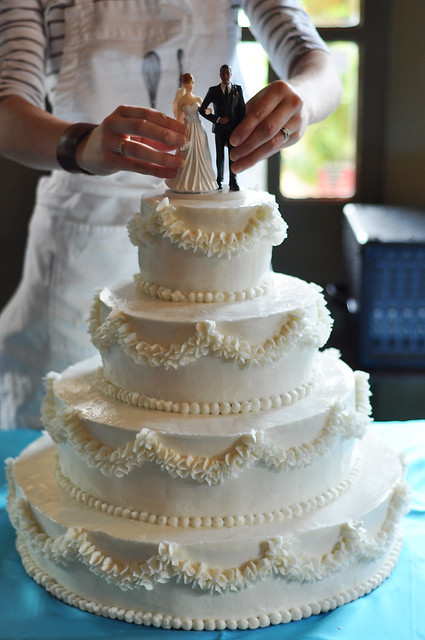wedding cake project....complete!!
