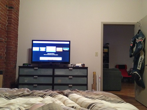 8:36pm bought a TV for my room. Testing it out by marshallhaas