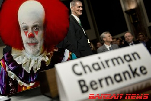 SCARY BERNANKE AT HEARING by Colonel Flick