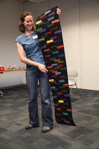 Elke's Kona challenge quilt