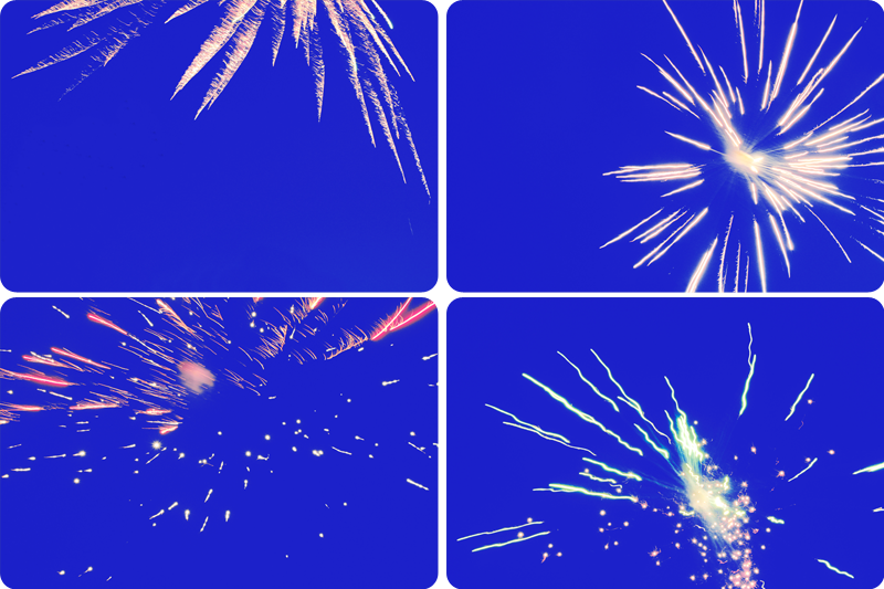 {fireworks} collage