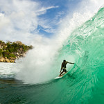 Bol snuck into a few small barrels at Padang.<br />&lt;p&gt;Photo by: Hamish&lt;/p&gt;