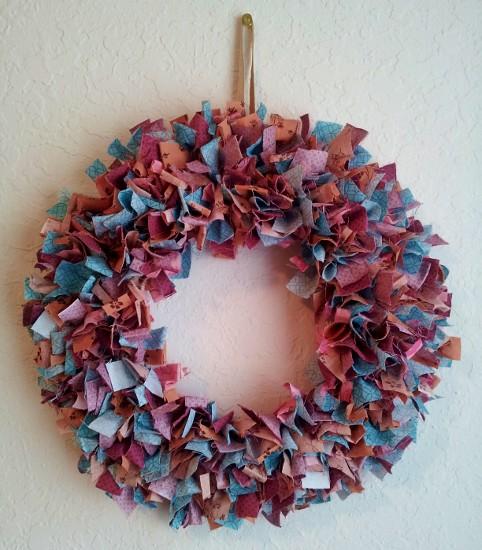 Blukatkraft Easy Diy Scrap Fabric Ribbon Wreath: Talk Like Lovers: DIY Fabric Scraps Wreath