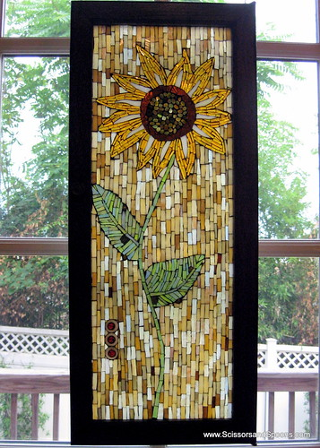 Glass Sunflower Mosaic