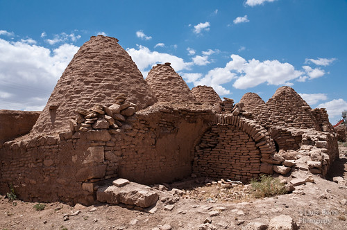 Casas colmena de Harran convertida en establo