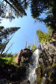 Waterfall on the way to Windy Pass
