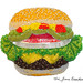 Beaded Cheeseburger (Oversized Fridge Magnet)