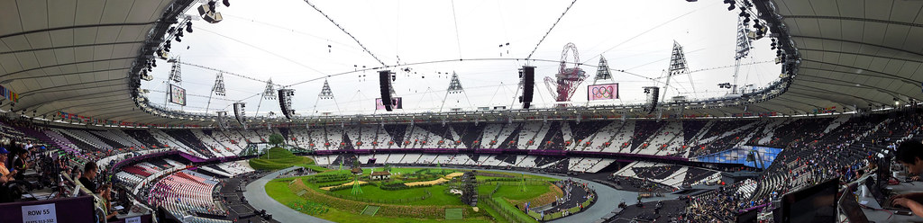 London Olympic Stadium Opening Ceremony panorama
