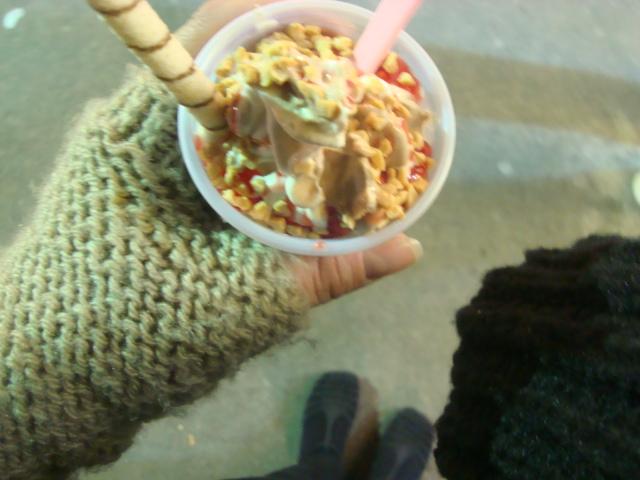 Dia de Frio...é o mais perfeito para se tomar sorvete! :D