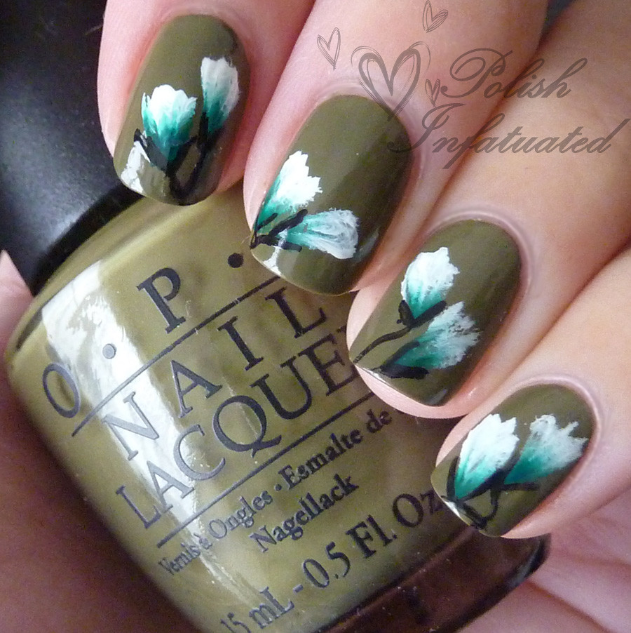 Another Attempt At One Stroke Flower Nail Art Polish Infatuated