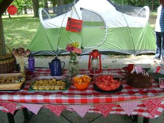 Peanut's Camping Birthday Party