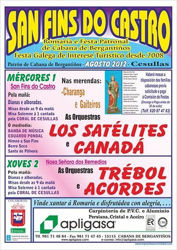 Cabana de Bergantiños - Romaría de San Fins do Castro en Cesullas - cartel