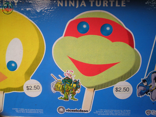 Blue Bunny :: Teenage Mutant Ninja Turtle 'Face' Bars - vendor sticker strip i (( 2011 ))