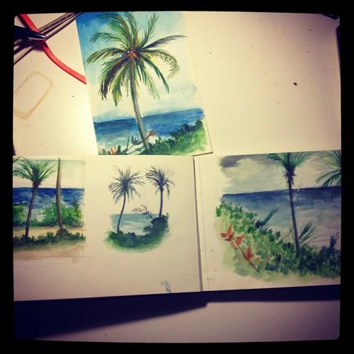 Sketchbook: Watercolor Moleskine (Dominican Republic)