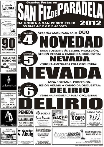 O Corgo 2012 - Festas de San Pedro Félix en San Fins de Paradela - cartel