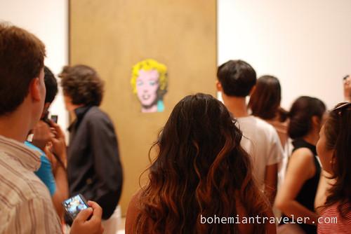 crowd at Warhol