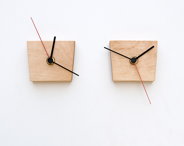 Small Wooden Wall Clock EIKO