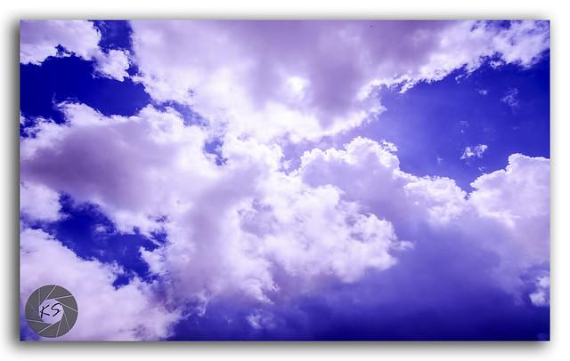 Beautiful Summer Cloudy Blue Sky in Janjehli, Himalays