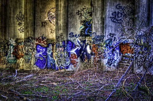 Milford GRafitti by train tracks-
