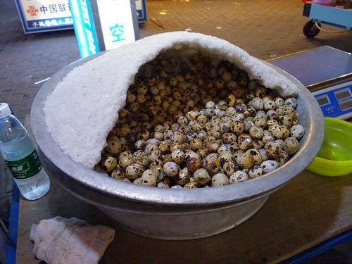 Salt Baked Quail Eggs