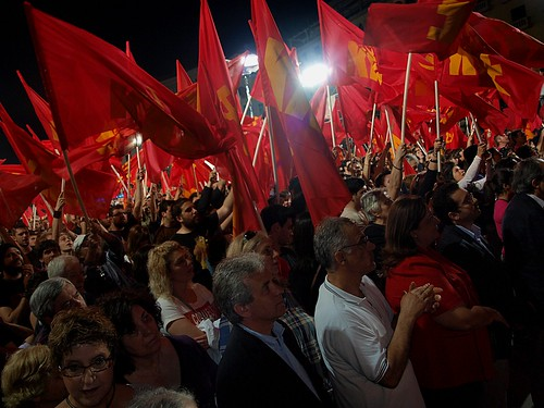 Greek communist party election rally - Thessaloniki, Greece