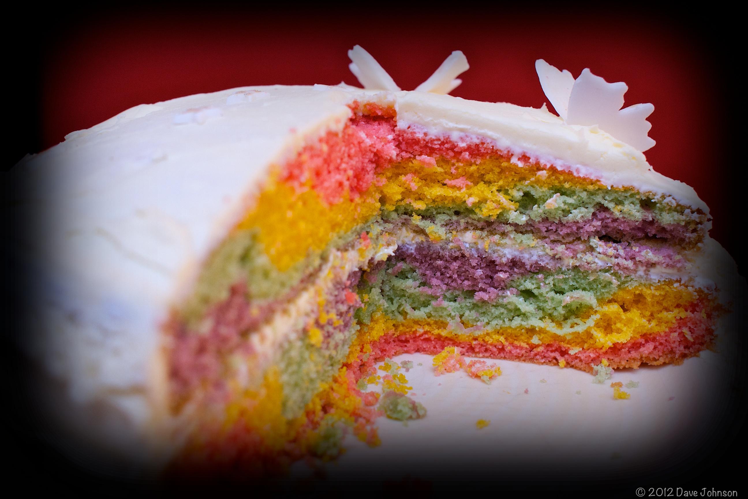 Square Rainbow Cake