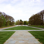 Looking E across quadrangle - Tomb of the Unknown Soldier - Arlington National Cemetery - 2012