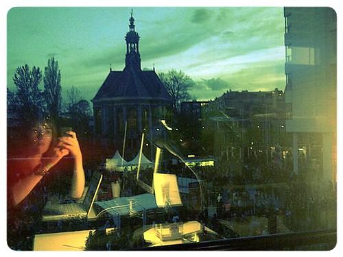 uitzicht vanuit Lucent op Spui! lilf12
