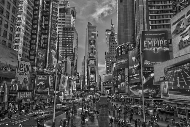 Times Square BW