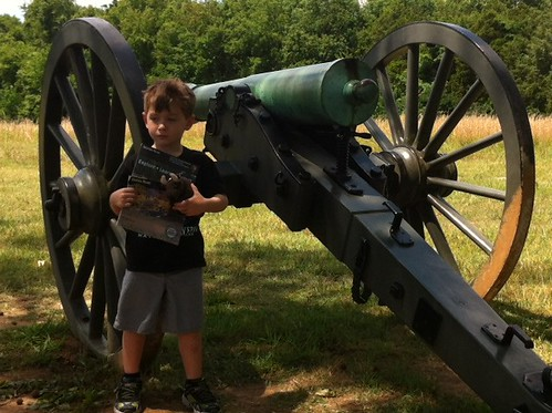 Chase and Buddy Bison at Stones River National Battlefield, Murfreesboro, Tennessee