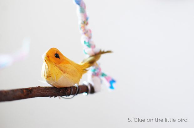 diy: sweet bird hanging