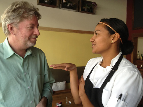 Peter w BierBeisl pastry chef Lissette Rodriguez