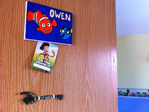 Disney key in pride of place on new bedroom door