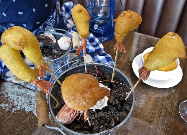 Spot Prawn Corn Dog on a Stick