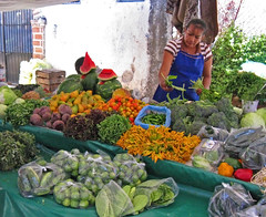 produce stand at the Chapala tianguis