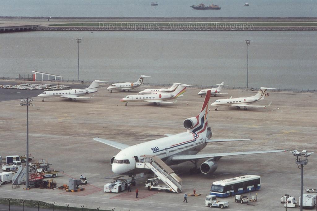 """HS-LTA, Lockheed, L1011, """"Orient Thai"""", Macau (19 biz jets in Macau!!)"""