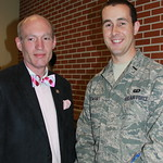 Rep. McCotter (R-MI) pictured with Michigan military member