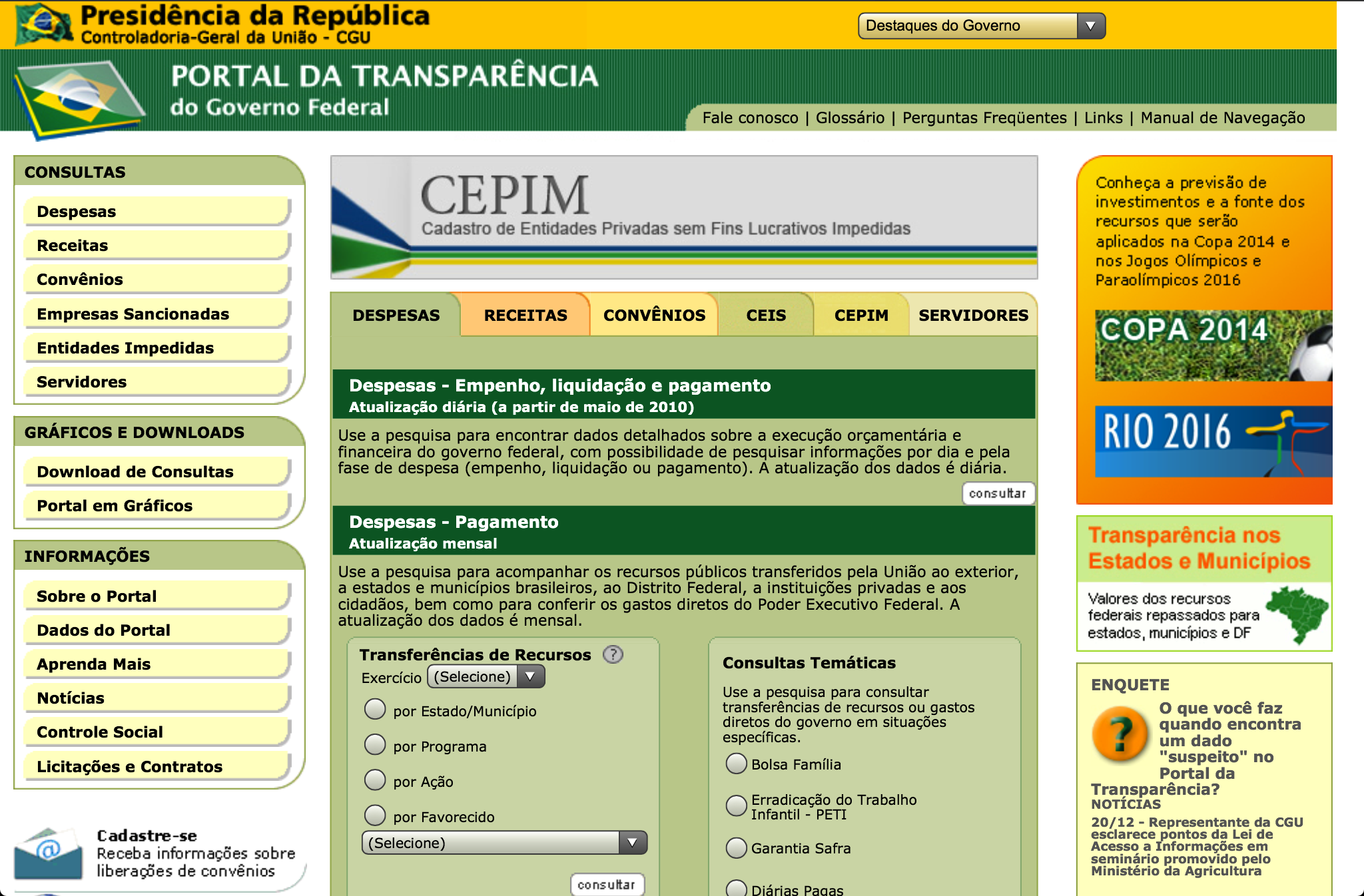 Brazilian Transparency Portal
