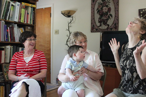 Joshua with his aunts