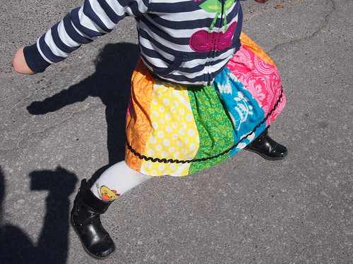 Wednesday's Rainbow Skirt
